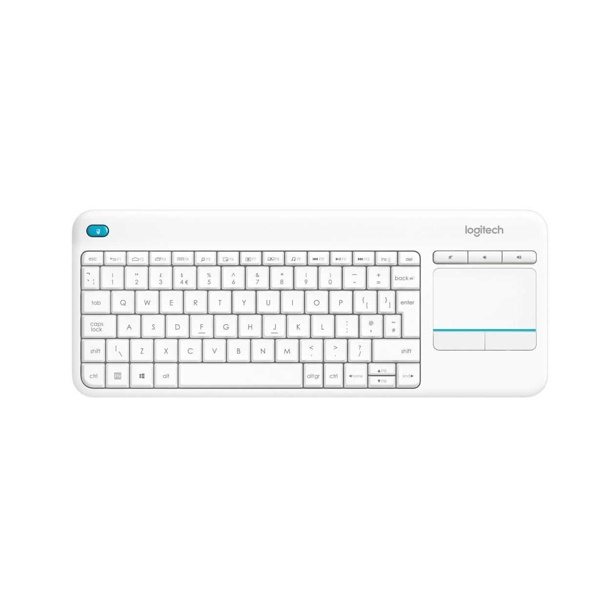 Logitech toetsenbord K400 Plus wit