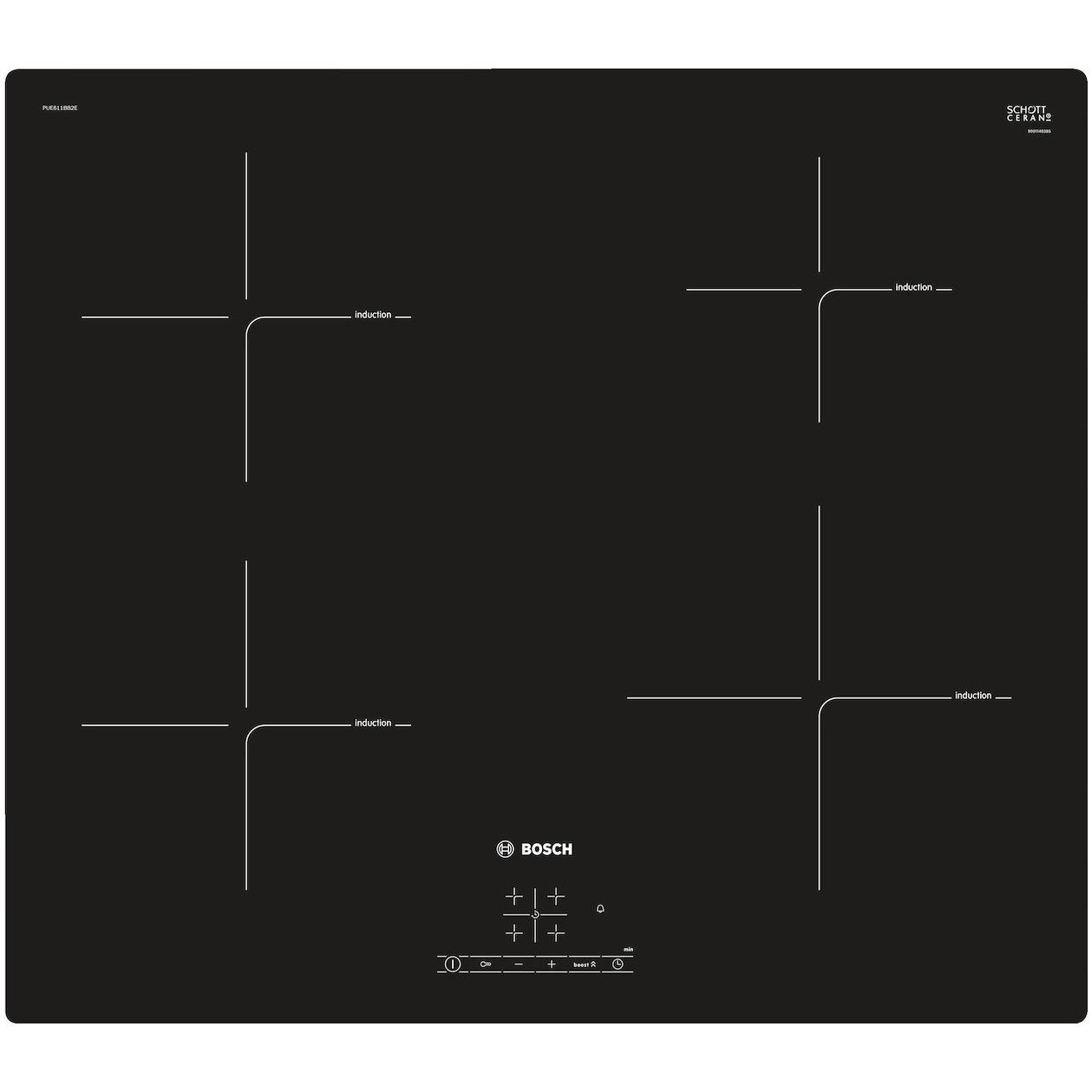 Bosch inductie inbouwkookplaat PUE611BB2E