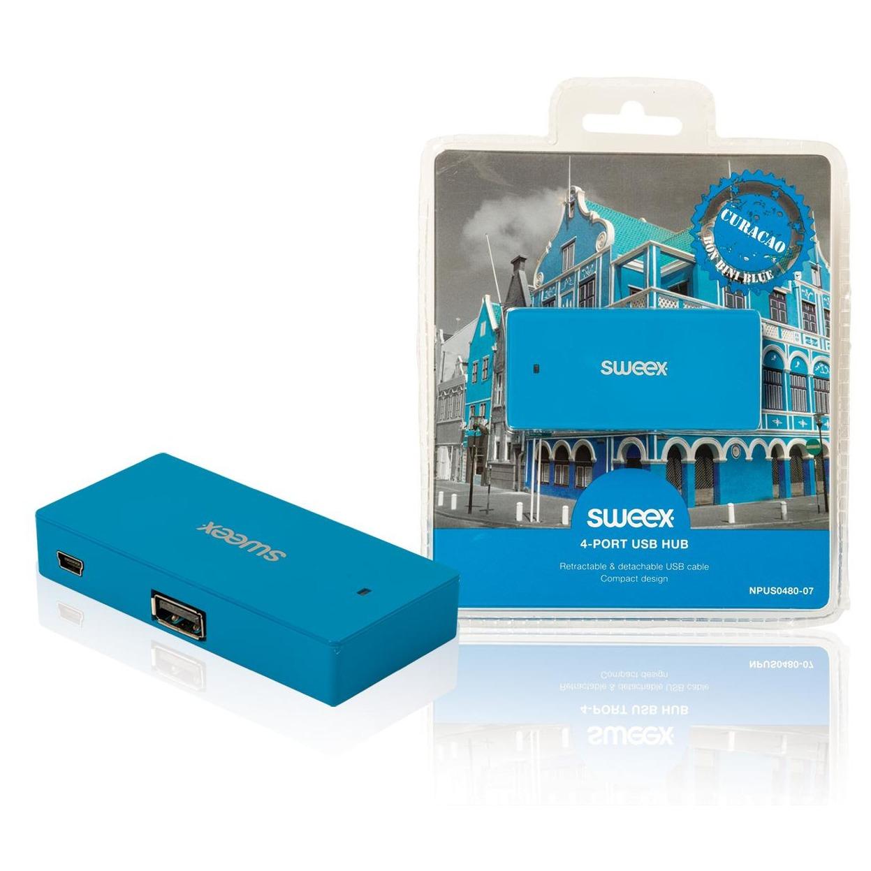 4-poorts USB-hub Curaçao blauw