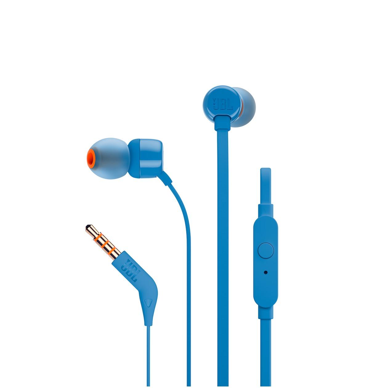 JBL in-ear oordopjes T110 blauw