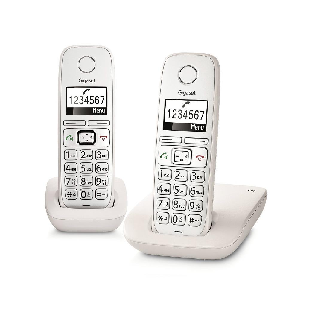 Dagaanbieding - Gigaset dect telefoon E260 DUO (BIG BUTTON) wit dagelijkse koopjes