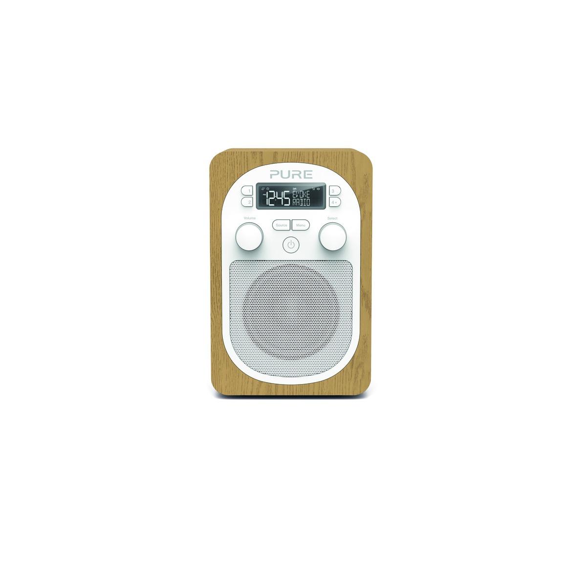 Pure dab radio EVOKE H2 eiken