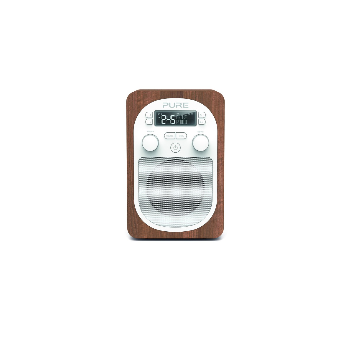 Pure dab radio EVOKE H2 walnoot