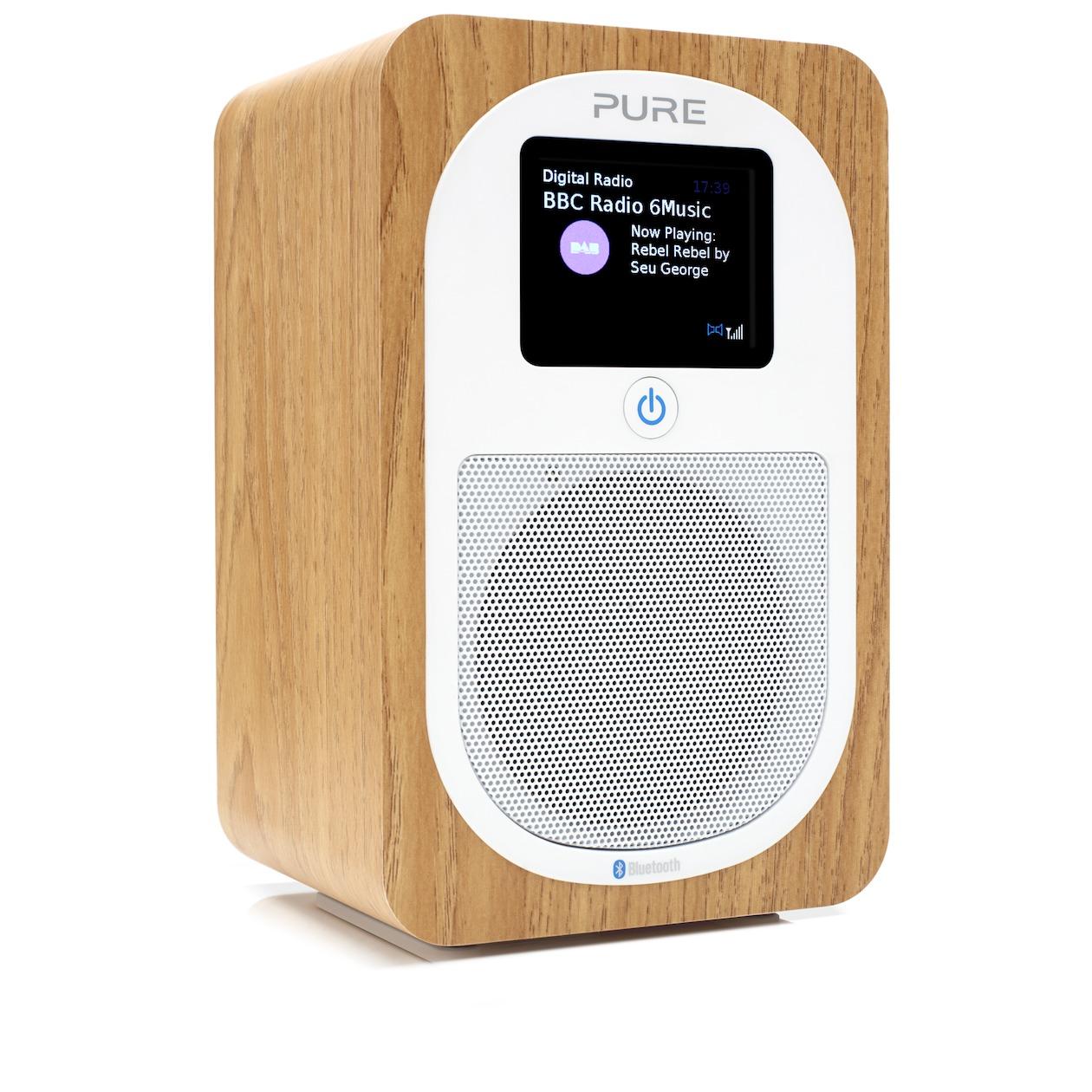 Pure dab radio EVOKE H3 eiken