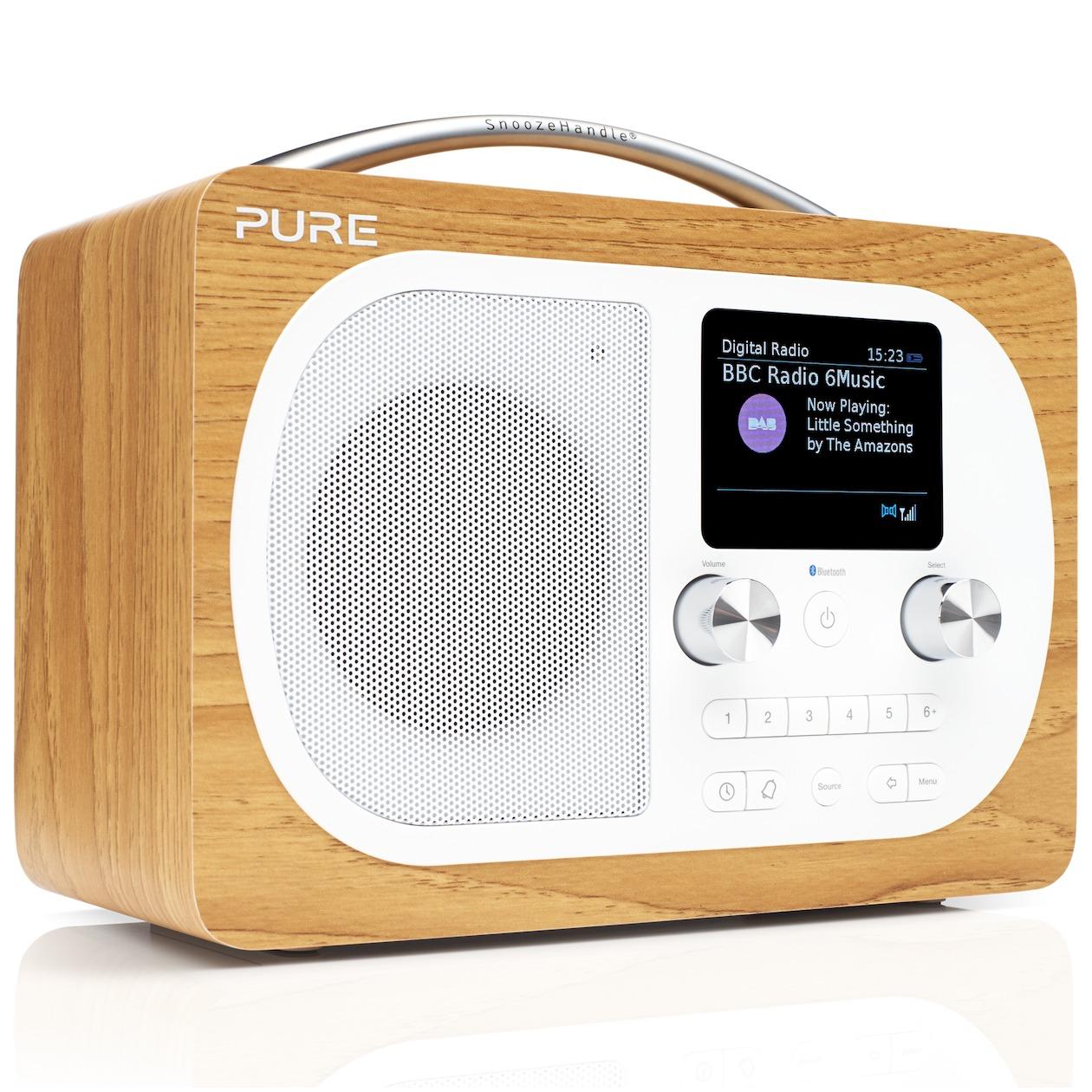 Pure dab radio EVOKE H4 eiken
