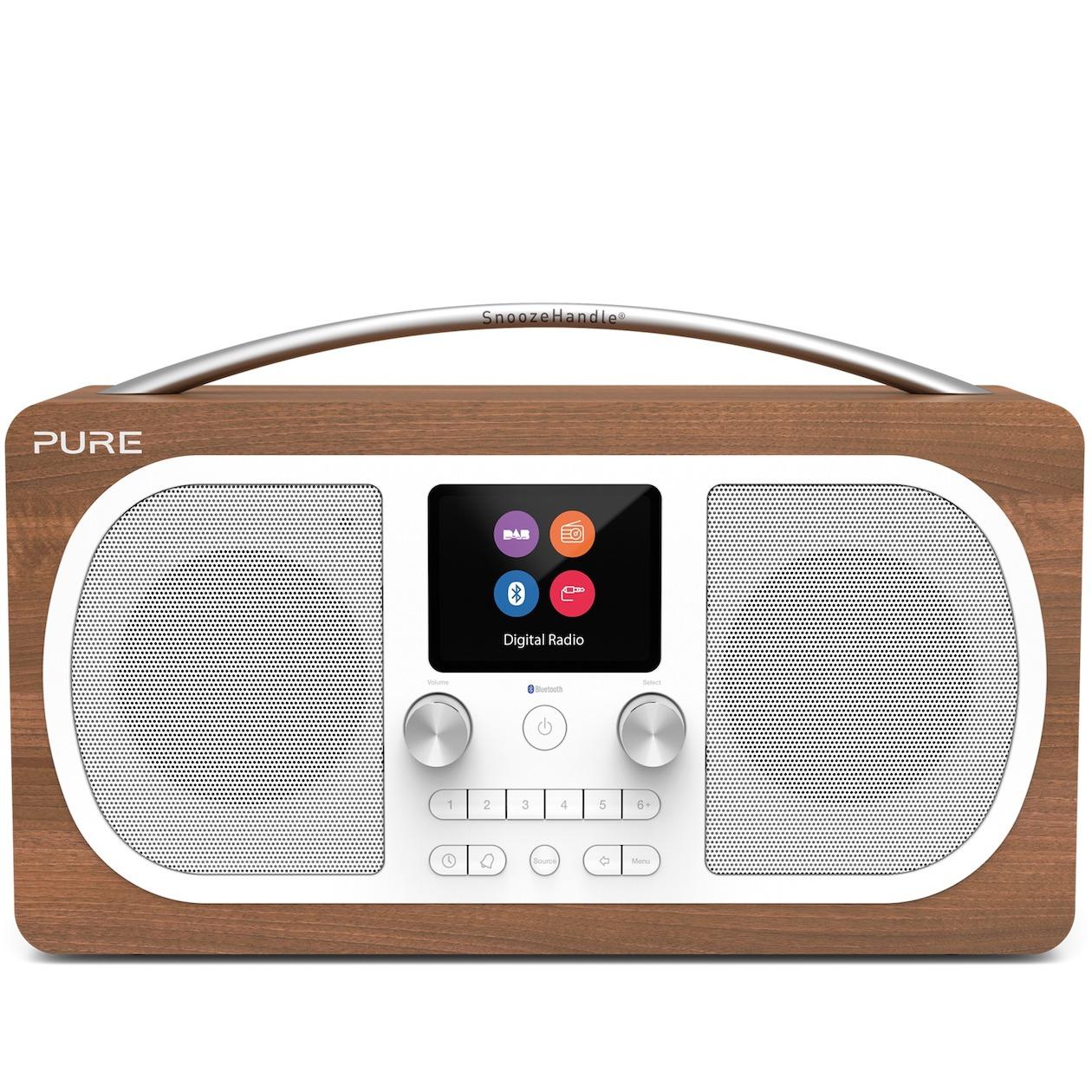 Pure dab radio EVOKE H6 walnoot