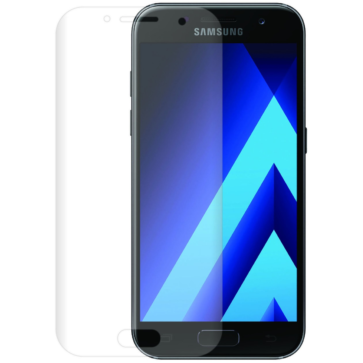 Azuri smartphone screenprotector Tempered Glass Curved Screen Protector voor Samsung Galaxy A3 2017 transparant