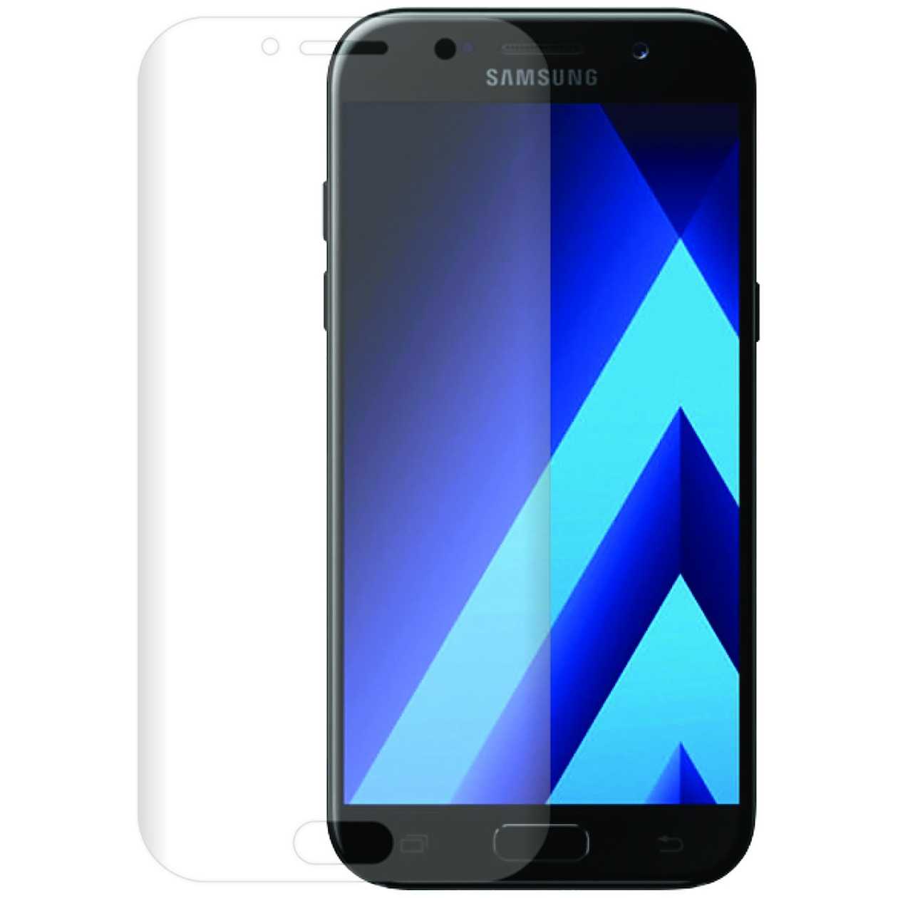 Azuri smartphone screenprotector Tempered Glass Curved Screen Protector voor Samsung Galaxy A5 2017 transparant