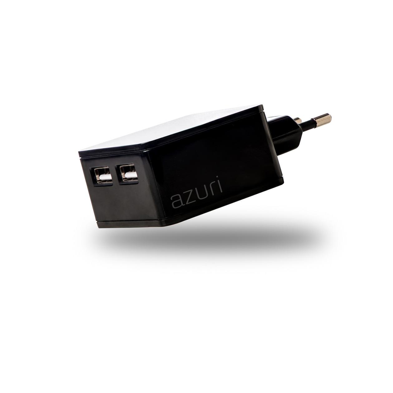 Afbeelding van Azuri oplader Thuislader 2 x USB 4.8Amp zwart