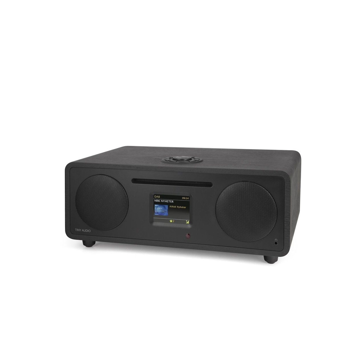 Tiny Audio dab radio Stereo WIDE DAB+ radio zwart