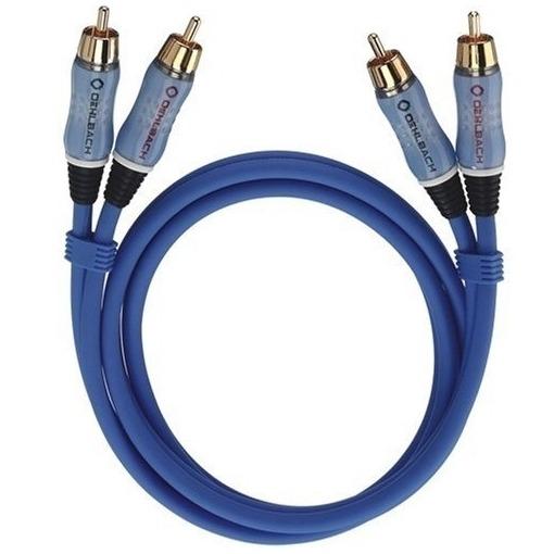 Oehlbach mini jack kabel Audio cinchkabel Stereo 20 m blauw