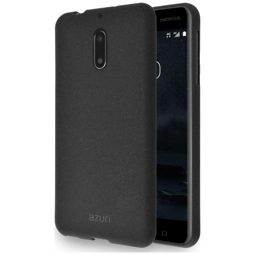 Azuri flexible cover met sand texture zwart voor