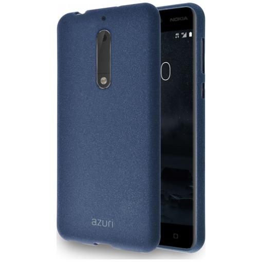 Azuri flexible cover with sand texture blauw Nokia 5