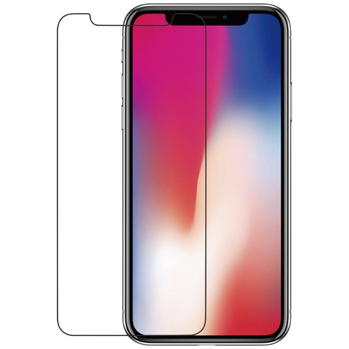 Azuri smartphone screenprotector Tempered Glass Screen Protector voor Apple iPhone X zwart