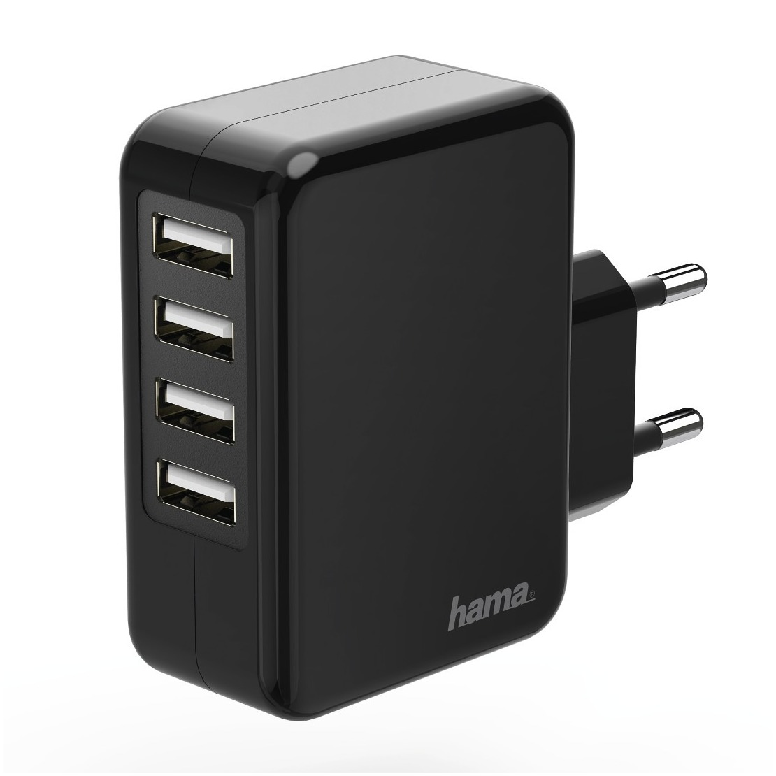 Hama oplader USB oplader 4x USB poorten 48 A zwart