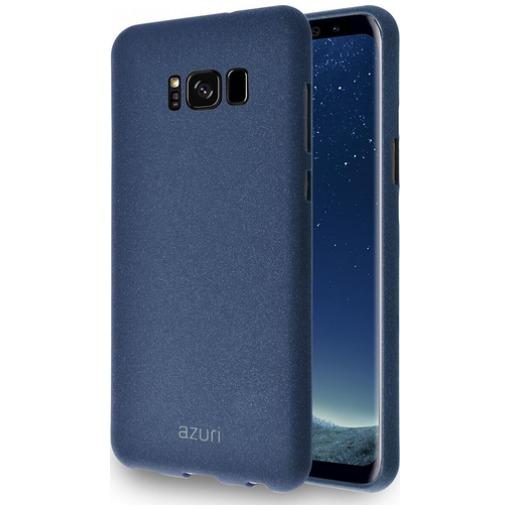 Azuri telefoonhoesje Flexibele cover met zand textuur voor Samsung Galaxy S8 blauw