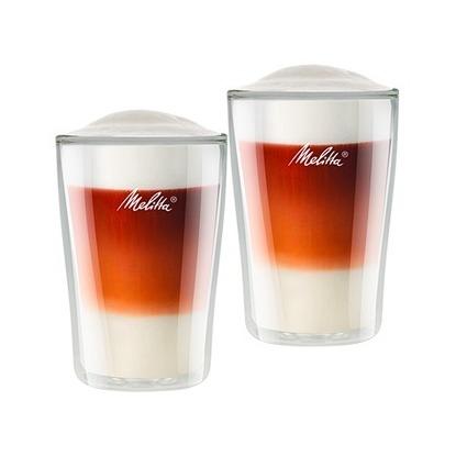 Melitta Glass Latte Macchiato 2x