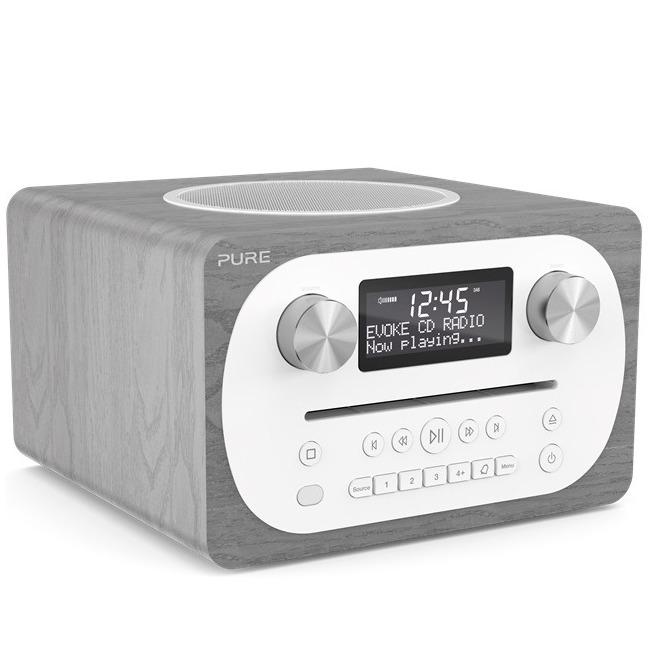 Pure dab radio Evoke CD4 hout/grijs