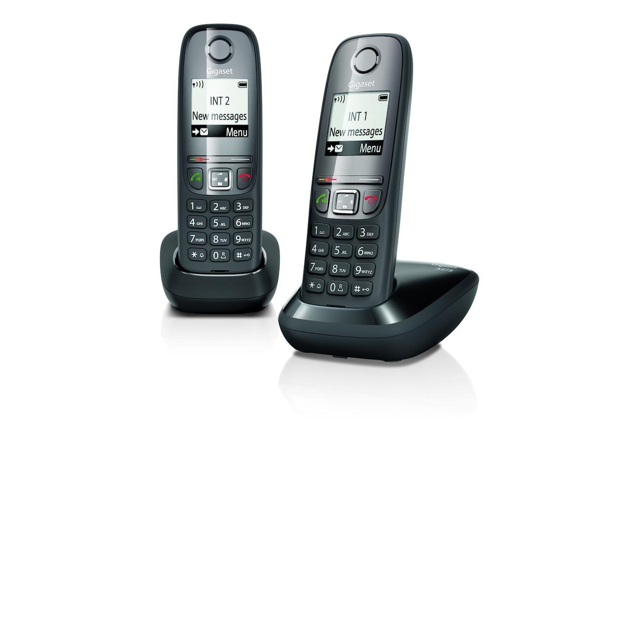 Gigaset dect telefoon A475 Duo zwart