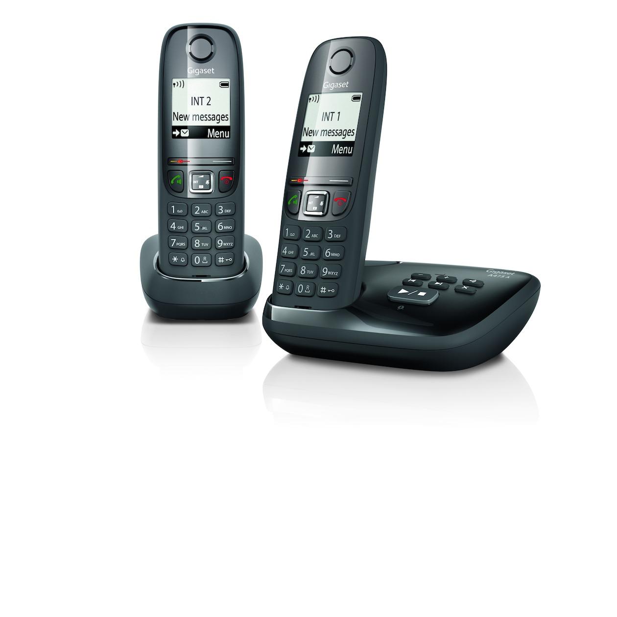 Gigaset dect telefoon A475A Duo zwart