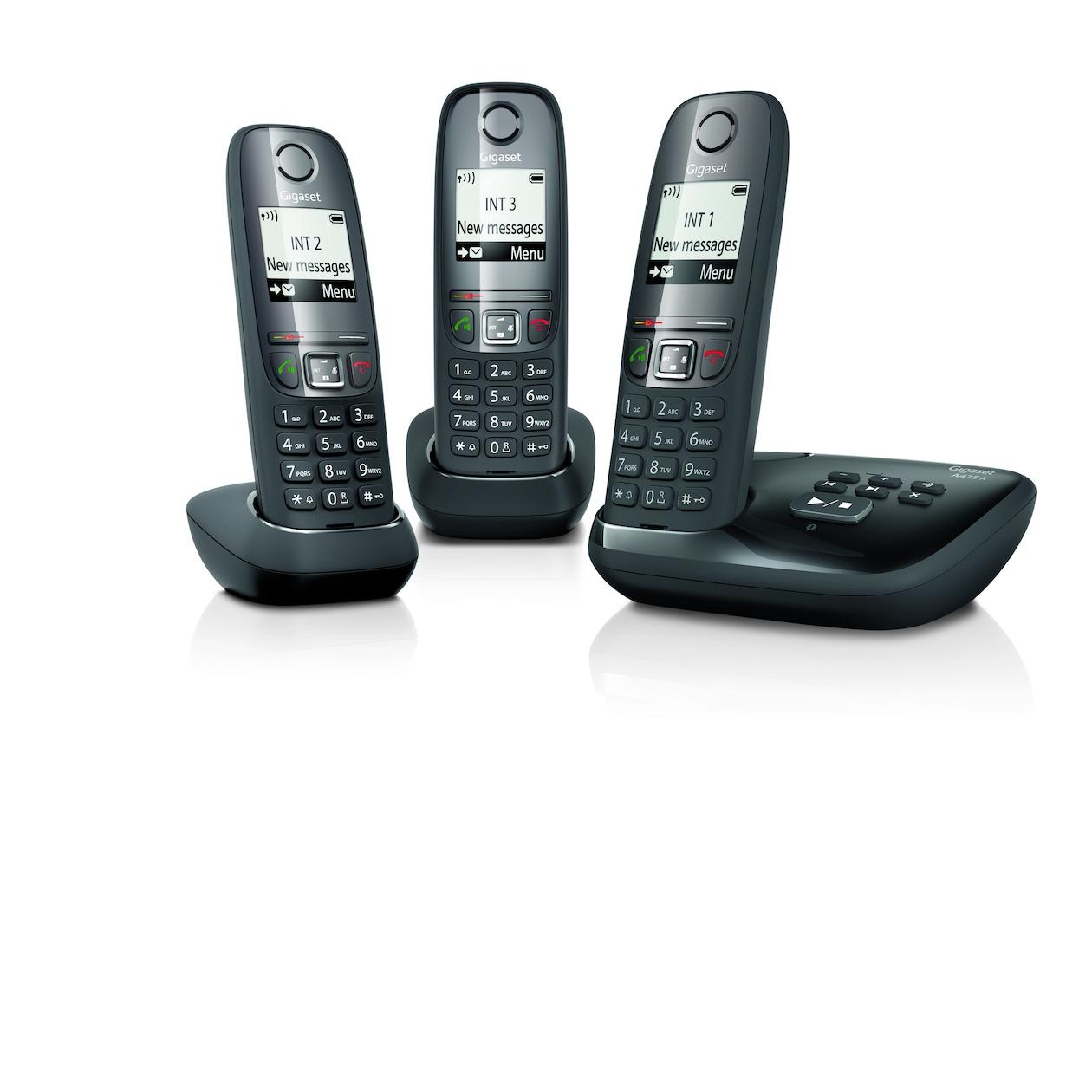 Gigaset dect telefoon A475A Trio zwart