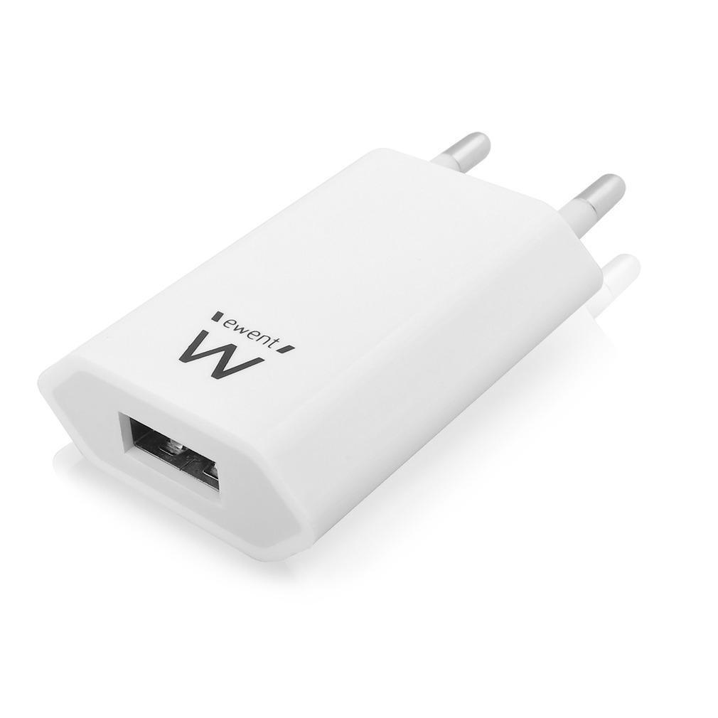 Ewent USB Oplader USB smartphone lader 1A - Universeel