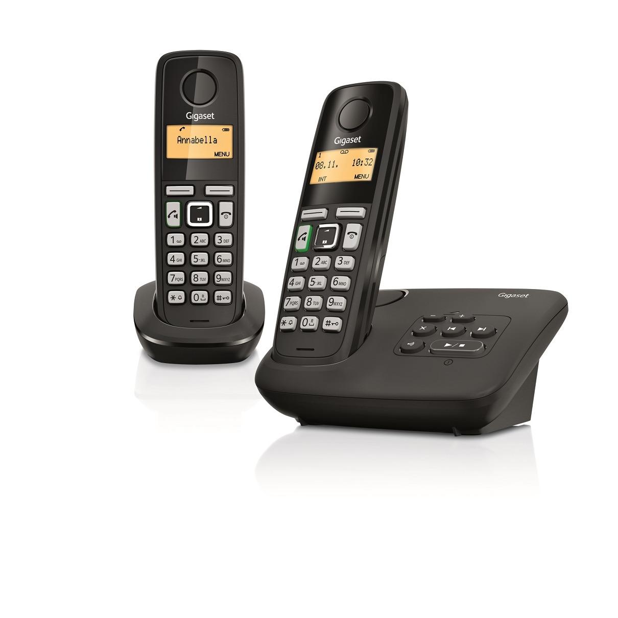 Gigaset dect telefoon AL275A Duo zwart