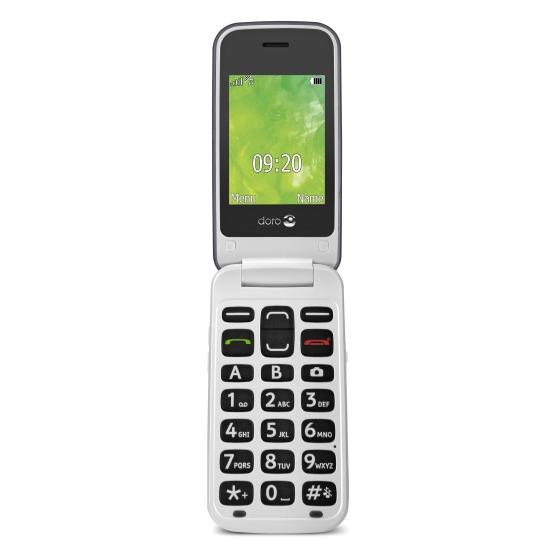 Doro mobiele telefoon Doro 2414 klaptelefoon staal/wit