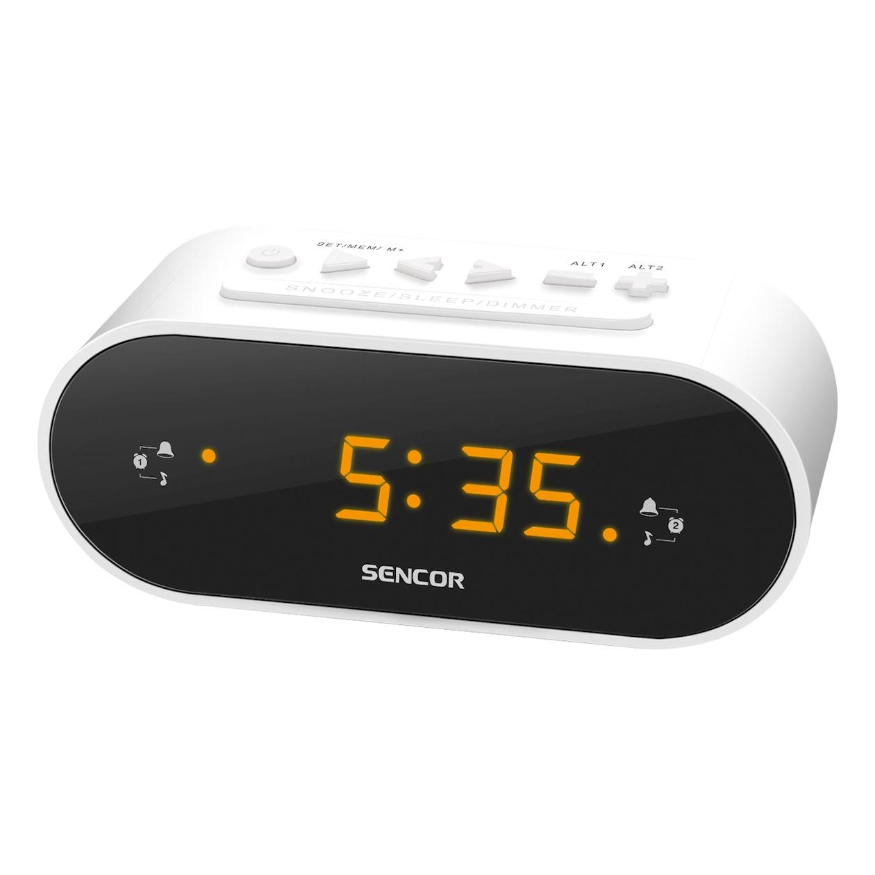 Sencor wekker radio SRC 1100 wit