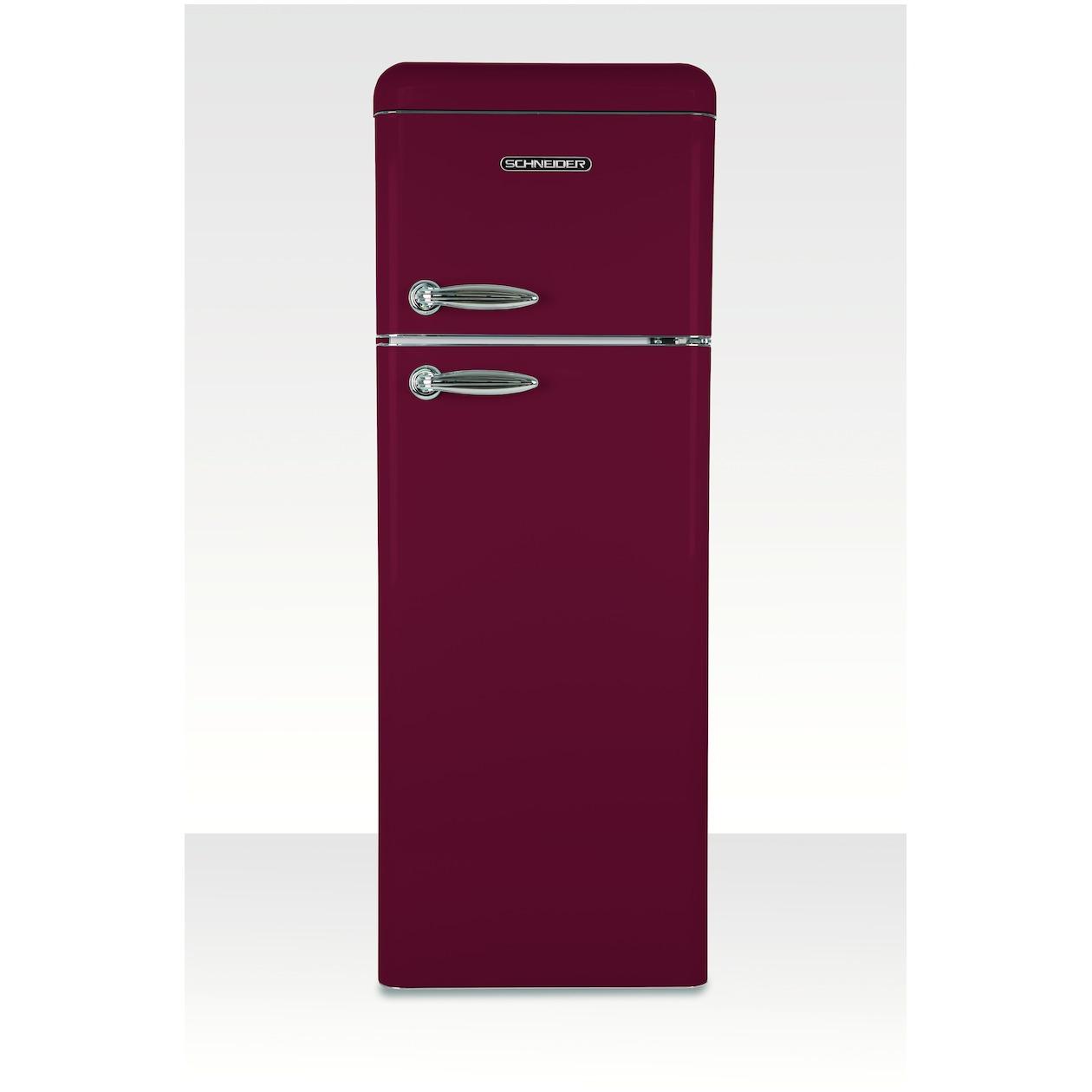 Schneider koelkast met vriesvak SL 210 R-DD A++ Wine Red Matt