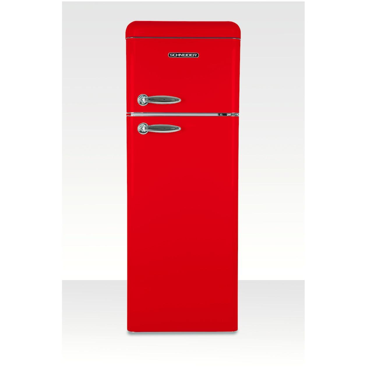 Schneider koelkast met vriesvak SL 210 FR-DD A++ Fire Red