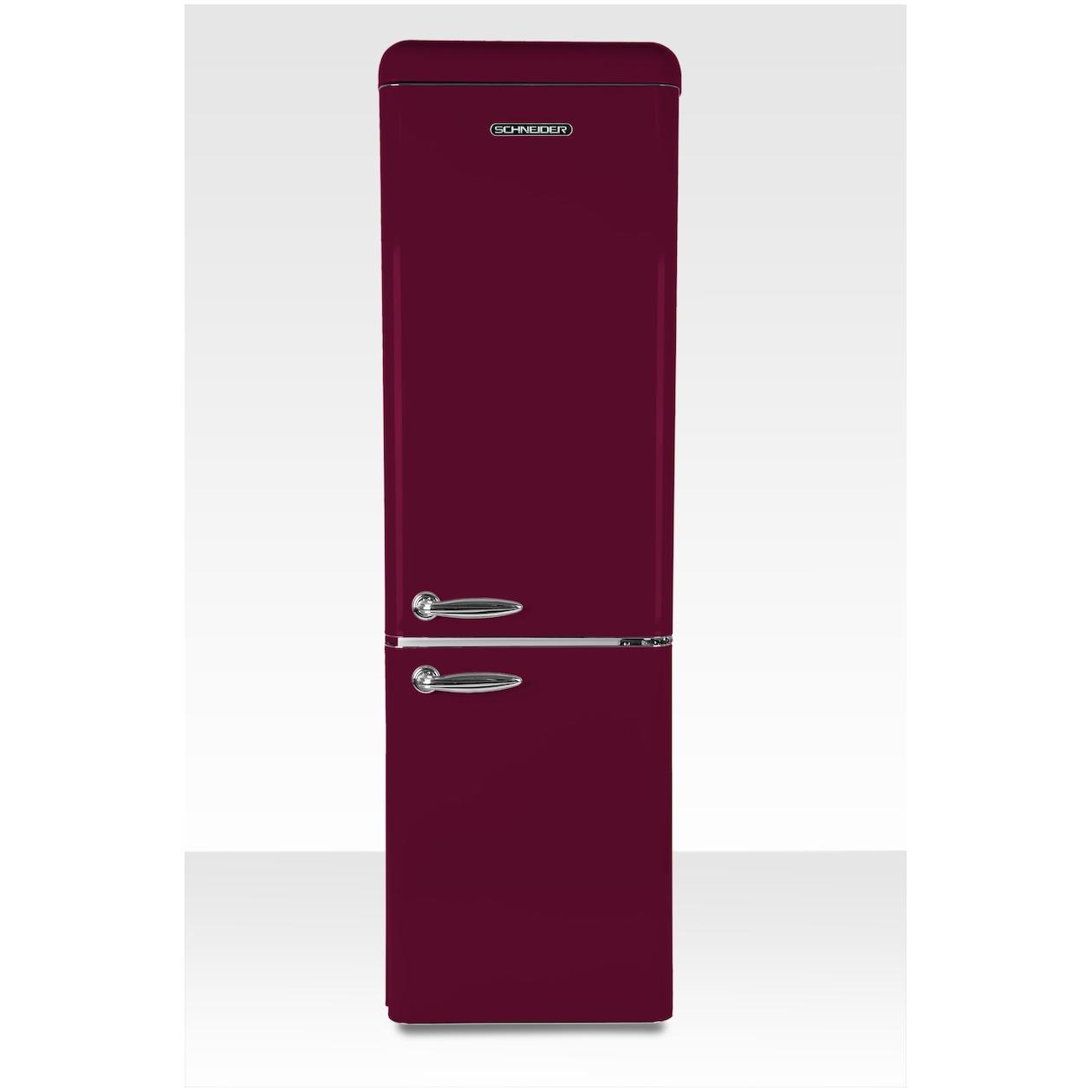Schneider koelkast met vriesvak SL 250 R-CB A++ Wine Red Matt - Prijsvergelijk