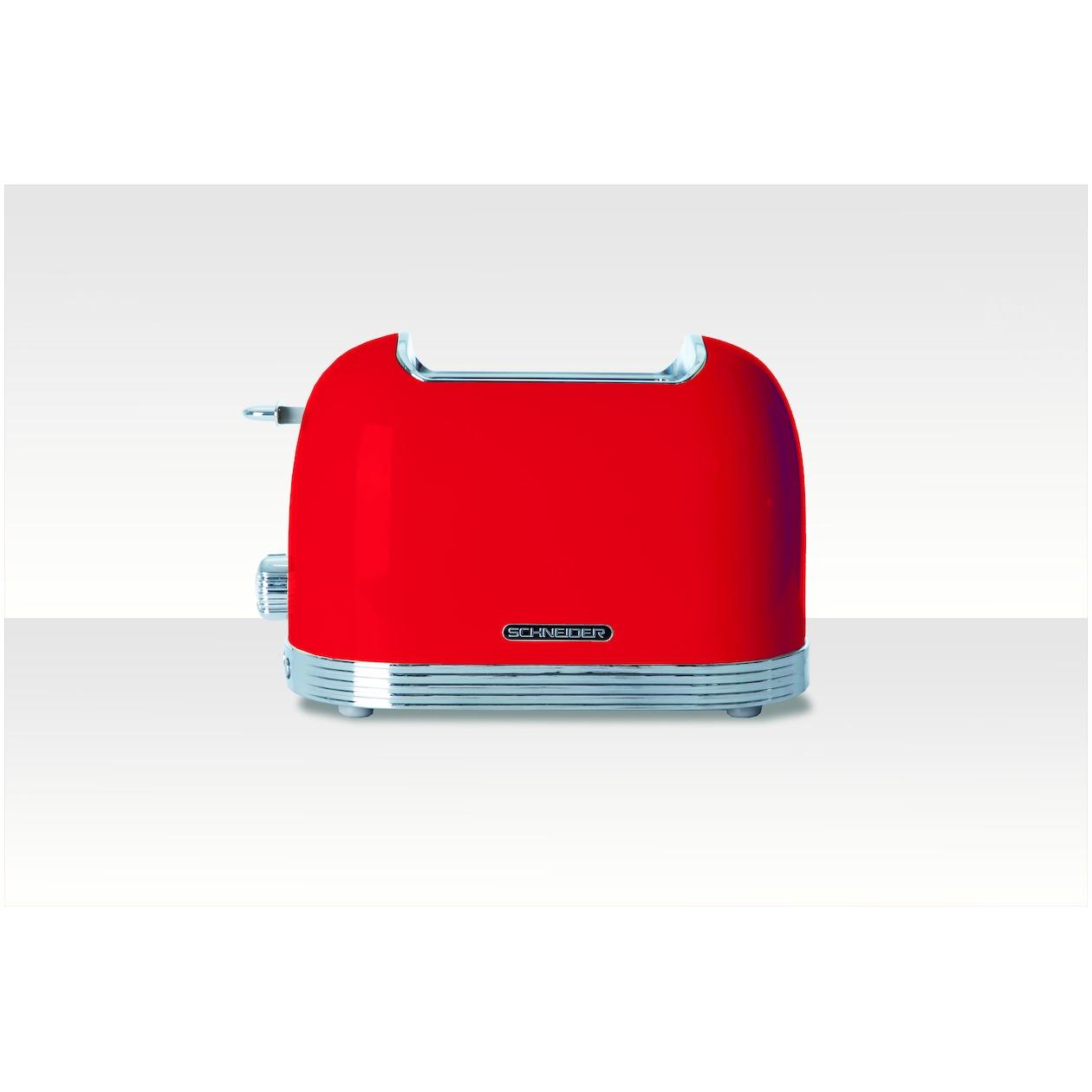 Schneider broodrooster SL T2.2 FR rood
