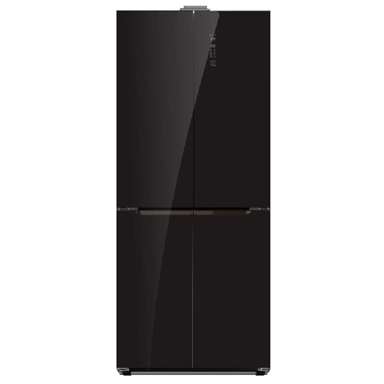 Schneider amerikaanse koelkast SCD 400 A++ NF Black Glass