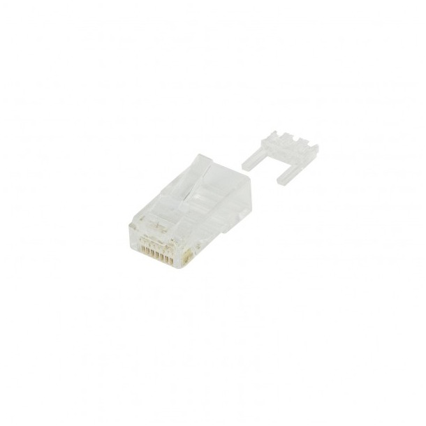 Ewent utp kabel Modular CAT6 Connector RJ45 10 pieces Round Stranded or Round