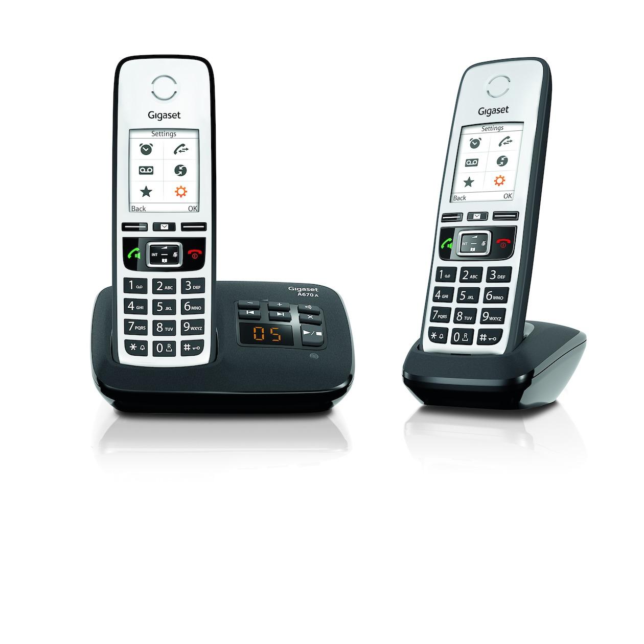 Gigaset dect telefoon A670A DUO zwart