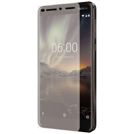 Azuri smartphone screenprotector Curved Tempered Glass RINOX ARMOR voor Nokia 6