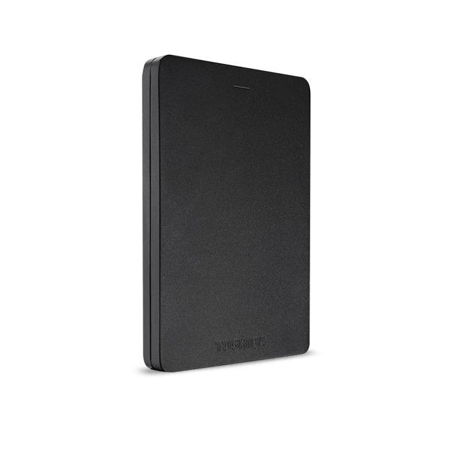 Dagaanbieding - Toshiba externe harde schijf Canvio Alu (2018) 500GB zwart dagelijkse koopjes