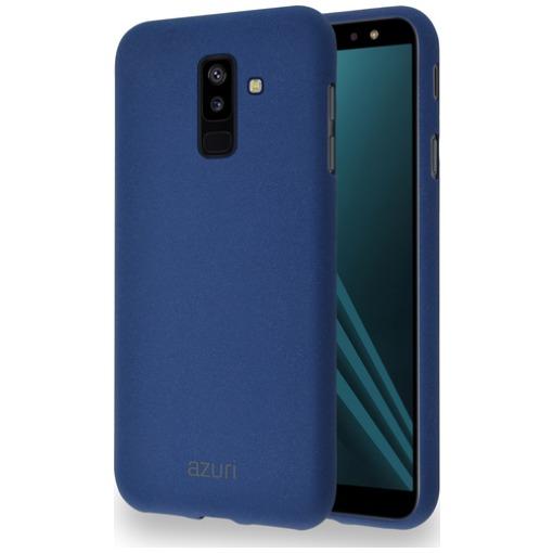 Azuri Flexible Sand Samsung Galaxy A6 Plus (2018) Back Cover Blauw