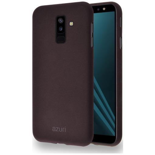 Azuri Flexible Sand Samsung Galaxy A6 Plus (2018) Back Cover Bruin