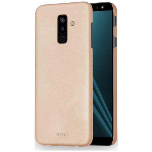 Azuri Metallic Soft Touch Samsung Galaxy A6 Plus (2018) Back Cover Goud