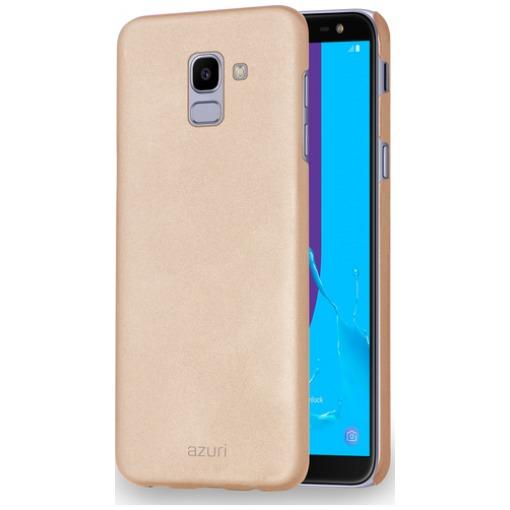 Azuri Metallic Soft Touch Samsung Galaxy J6 (2018) Back Cover Goud