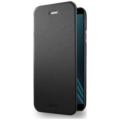Azuri telefoonhoesje Booklet ultra dun met standfunctie Samsung A6 (2018) zwart