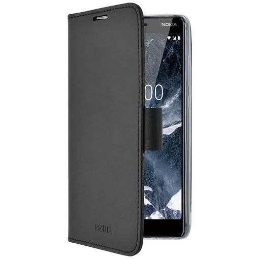 Azuri telefoonhoesje Wallet Case met magnetische sluiting en 3 cardslots - voor Nokia 5 (2018) zwart
