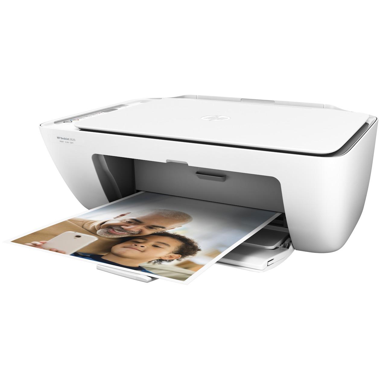 HP DeskJet 2620 AiO 4800 x 1200DPI Thermische inkjet A4 7.5ppm Wi-Fi Wit multifunctional