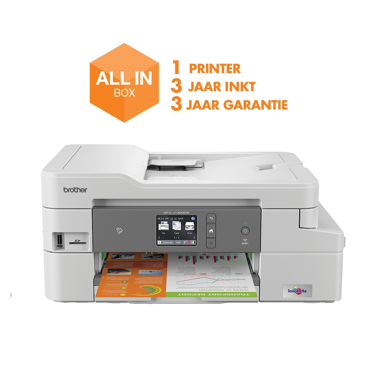Brother all-in-one inkjet printer MFC-J1300DW (all-in-box)