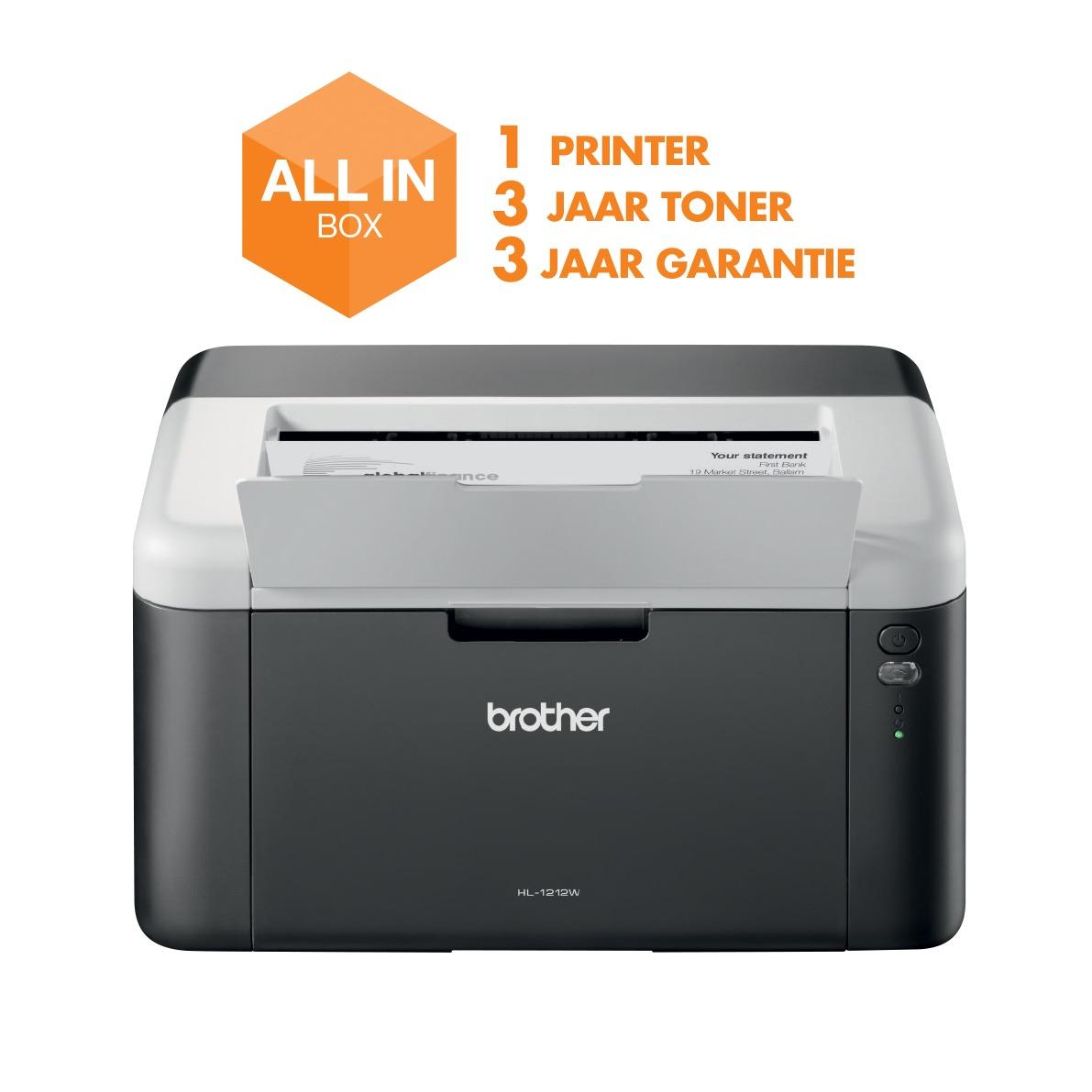 Laserprinter Brother HL-1212 + 4 extra toners TN-1050