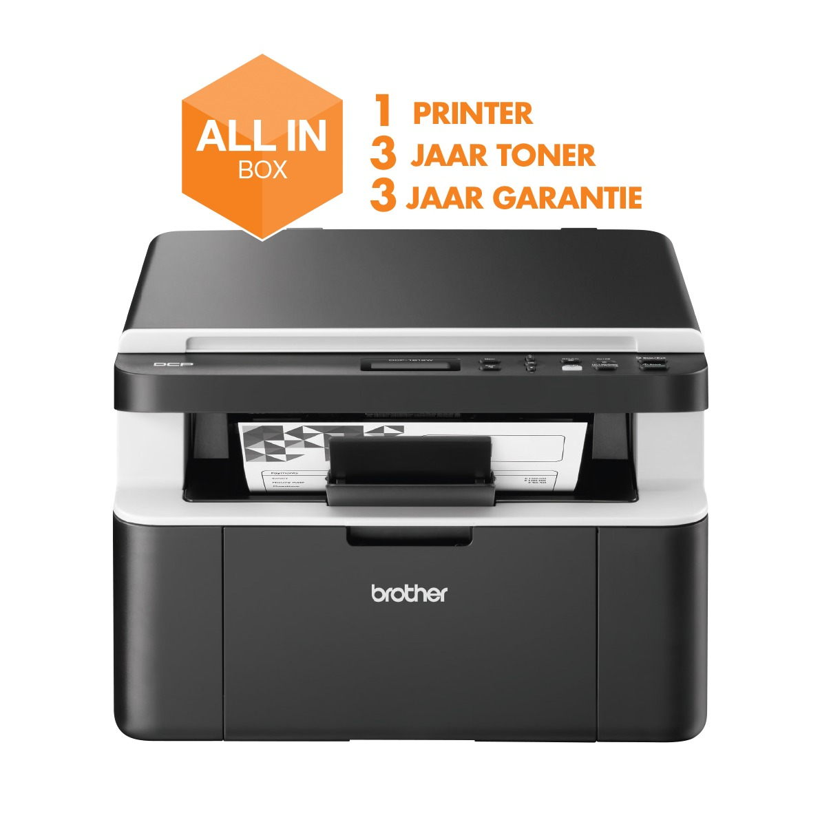 Brother all-in-one laser printer DCP-1612W (all-in-box)