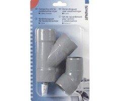 Scanpart PVC y-stuk verbindingsset condensdroger droger accessoire