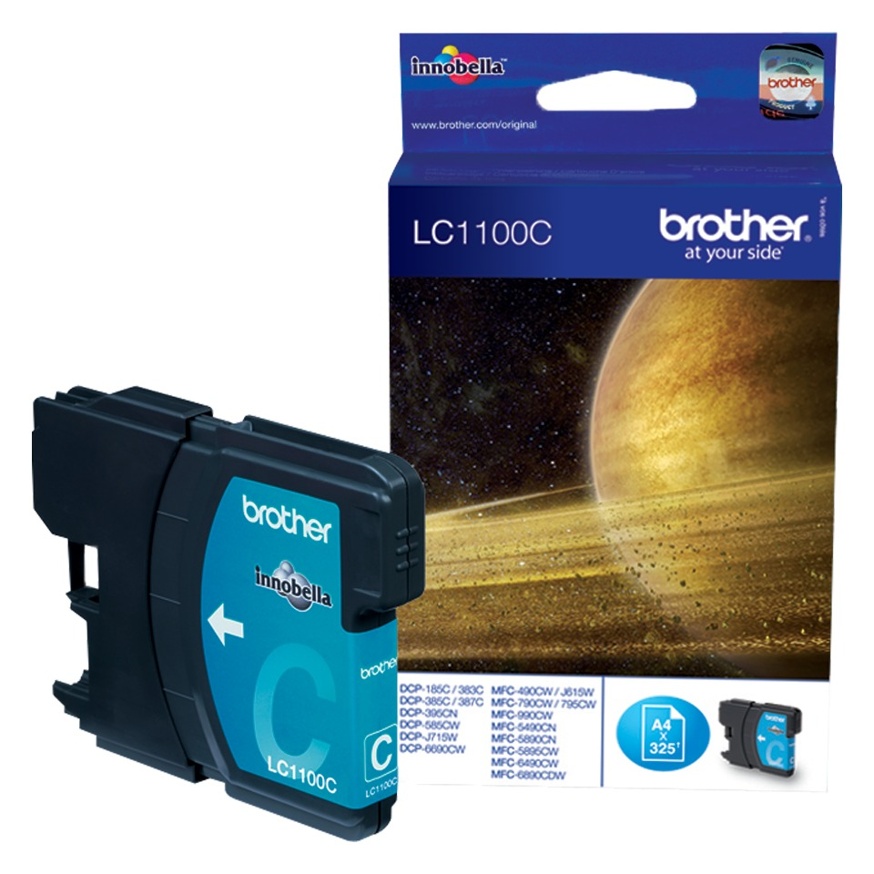 Brother inkt LC-1100C cyaan